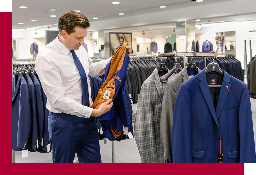 Beratung für Herrenanzüge im Modehaus Brand-Moden in Leidersbach bei Frankfurt und Würzburg